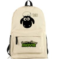 Wholesale Bags School Sheep - Shaun the Sheep backpack Cut kids cartoon school bag Special sport daypack Nylon schoolbag Quality day pack