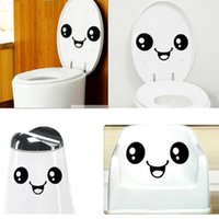 300pcs Funny Big Smile Face Toilettes Stickers WC Sticker mur mural Autocollants imperméables en vinyle Autocollants Mural Art Accueil Décorations ZA0439