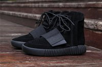 Wholesale Wholesale Men Cowboy Boots - 2017 New 750 Boost CBLACK NOIESS ALL BLACK Kanye West BB1839 Boots Men Outdoor Casual Boost Sneakers 750 Boosts Size 42