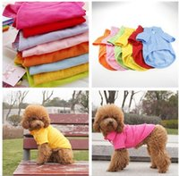 Wholesale pet clothing dropshipping online - Pet Dog Cat Puppy Polo T Shirts Suit Clothes Outfit Apparel Coats Tops Clothing Size XS S M L XL DropShipping L010