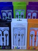 Wholesale Oem Phone Accessories - OEM Phones accessories zipper earphone in-ear earphone with zipper