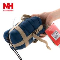 Wholesale Down Sleeping Bag Adult - NH portable mini sleeping bag outdoor camping travel envelop cotton 0.7kg