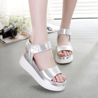 Wholesale Gold Muffin - 2018 New Fashion Ladies Sandals Muffin Fish Mouth Thick High Quality Cheap Brand Shoes Free Shipping