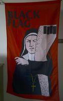 carteles de musica rock al por mayor-Cartel de la bandera negra 90 x 150 cm Poliéster Banda de música de punk rock americano Colgante de pared Banner