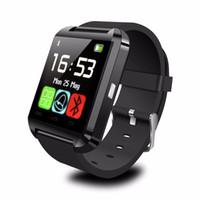 u8 smart watch mate großhandel-U8 Smart Uhr Armbanduhr Telefon Mate Bluetooth U8 für IOS Android iPhone Samsung LG HTC