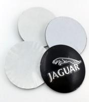 Wholesale Cars Hole Cover - Car Wheel Center Emblems for Jaguar hubcap labeling modified car tire center hole cover flag car stickers decorative aluminum na