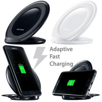 Wholesale Smart Dock Galaxy - White Qi Wireless Charger 5V 2A Smart USB Quick Fast Charging Dock for Samsung Galaxy S8 G9500 G9300 S6 S7 Edge Note 8