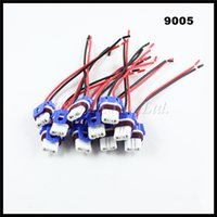 Wholesale h7 holder - 100pcs Ceramic 9005 9006 HB4 LED socket bulb pigtail plug harness 9005 HB3 LED bulb holders Ceramics H7 9006 9005 connectors sockets