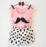 Wholesale Korean Fashion Clothes For Kids - Summer Girls Kids short sets Korean style Girls fashions Kids suits for girls Wholesale Baby Kids clothes Girl clothing set HM 002