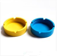 Wholesale Cool Home Gadgets - Colorful Friendly Heat-resistant Silicone Ashtray for Home novelty crafts pocket ashtrays for cigarettes cool gadgets ash tray