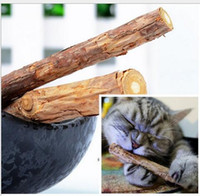 Wholesale Sticks Balls - Catnip Silvervine teeth Sticks Cats Dental Health Sticks Pets Catnip Products wood toys cats snacks cats favor newest