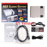 Wholesale Mario Game Console - DHL 10 pcs NES Classic Edition Console 30 Games Entertainment System US   EU Retro Family Summer Game Players back to 1980S Mario Bros