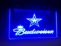 b-79 Dallas Cowboys Budweiser Beer Bar Pub Club de NEW LED Neon Light Inscrivez-vous dédicaces à bas prix hotline