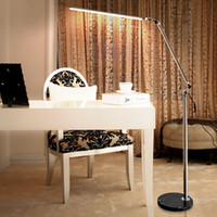 Wholesale Lamp Marble Base - LED Floor Lamp Living Room Swing Arm Adjustable Balcony Reading Light 5000-5500K Floor Standing Lamps with Marble Base Home Decor Lighting