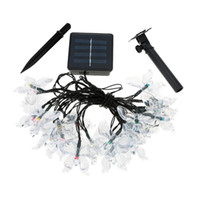 Atacado- CNIM Hot 4.7M 20 Led Solar Light Fair Light String Multi Color Butterfly Xmas Party
