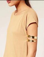 Wholesale Gold Snake Arm Cuff - New Metal Gold Tone Fashion Egypt Cleopatra Swirl Snake Upper Arm Cuff Armlet Armband Bangle Bracelet Adjustable for Women Wholesale