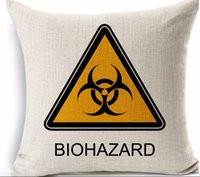 Compra Copertura Maligna Residente-BIOHAZARD CHEMICAL Resident Evil hero Memoria classica cuscino massaggiatore cuscini decorativi per film euro cover home decor