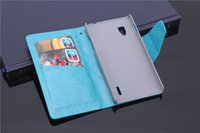 Wholesale E973 Case - Hot Sale Wallet Flip Leather Cover Case For LG F180 E973 E975 With Card Holder Stand Free Shipping to