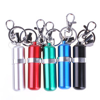 Wholesale Mini Oil Lighter - Wholesale-2016 Retail Zinc Alloy Mini Portable Lighter Petrol Olive Oil Fuel Bottle With Keychain
