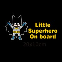 Litter Superheroes Baby On Board Adesivi e decalcomanie auto riflettenti per chevrolet cruze ford focus vw Skoda hyundai honda kia