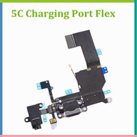 per iPhone 5 5C Connettore bacino USB Charging Port Headphone Jack audio con nastro flessibile a cavo antenna