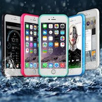 Wholesale iphone water seal for sale – best For iPhone plus Sealed Waterproof Case For Iphone plus s Full Cover Transparent Screen Protect Soft TPU Gel Front DHL Opp bag SCA096
