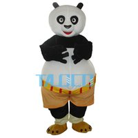 panda fantasia venda por atacado-Kung Fu Panda Mascot Costume Para Halloween Carnaval Fancy Dress Adult Frete Grátis