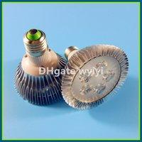 Wholesale 5led 5w - LED spot light lamp spotlight LED bulb par light parlight E27 AC85-265V 5LED 5W 550lm high bright Free FEDEX DHL