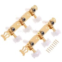 Wholesale Guitar Tuning Buttons - Classical Guitar Tuning Keys Pegs Machine Heads Gold w  Mica Button