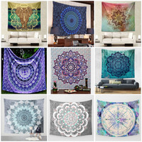 Wholesale Decorative Wall Hanging Art - Bohemia Style Yoga Mat Home Decorative Mandala Hippie Art Wall Hanging Tapestry Elephant Printing Beach Towel Fashion 17ca C