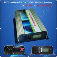 Wholesale 1kw Pure Sine Wave Inverter - Solar power inverter 1000W, on grid tie solar power inverter 1KW, DC 45-90V to AC 90-260V pure sine wave converter