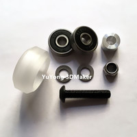 Wholesale Cnc Parts Kit - Freeshipping High precision CNC clear Polycarbonate Xtreme solid v wheel kits for Openbuilds v-slot linear rail system,OX CNC,C-Beam parts
