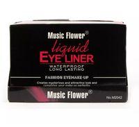göz kalemi 24'lü toptan satış-Toptan Satış - Toptan-2017 Eye Liner Delineador Müzik Çiçek 24pcs Profesyonel Moda Renk Makyaj Renkli Likit Eyeliner 6 Renkler Su geçirmez