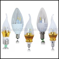 5W 6W E12 E14 E27 LED SMDs Chandelier Candle Bulb chaud Day White Light Spotlight LLWA193