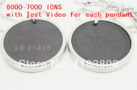 Wholesale Scalar Energy Card Pendant - free shipping stainless steel Quantum Scalar Energy Pendant 6000 ~ 7000 ions with Test Video with Card for each pendant