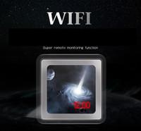 Wholesale Hidden Spy Camera Mirror - H.264 1080P HD Wireless WiFi Spy Clock Camera Camcorder Hidden Mirror Alarm Video Recorder Pinhole DVR