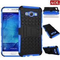 funda galaxy ace silicona al por mayor-Armor Hybrid Kickstand Case para Samsung Galaxy A9 A8 A7 A710 A5 A510 A3 A310 Ace 4 Combo PC duro + TPU silicona cubierta del teléfono