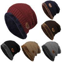 coiffe coréenne achat en gros de-Mode hommes en plein air Beanie rayures hip hop chapeau à tricoter
