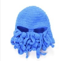 Wholesale mens beanie cap black for sale - Group buy Funny Crochet Hat Caps Tentacle Octopus Cthulhu Knit Beanie Hat Cap Wind Ski Mask Winter Hats Mens Hat Fashion Hats Christmas Gift