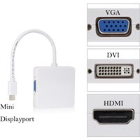 Mini DisplayPort para VGA HDMI DVI Adaptador Cabo Mini DP para HDMI Conector DP 3 em 1 Conversor Para MacBook para monitorar TV
