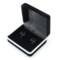 Wholesale Velvet Clips - High Quality Cufflinks Velvet Case Cuff Link Display Holder Box Tie Clip Boxes Jewery Storage Organizer Free Drop Shipping