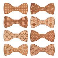Wholesale Iron Man Star - 2018 Top Fashion Wholesale 8 Design Solid Wooden Bow Tie Men Bowtie Women STARS LOVES MLJ001-008
