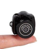 grabador de video avi al por mayor-2016 Más Pequeña Cámara Mini Videocámara Micro Bolsillo Audio Grabadora de Video DVR Portátil Digital DV HD Web Cam 2MP 720P JPG AVI Y2000