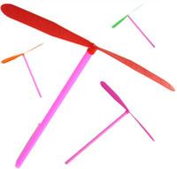 yusufçuk ok toptan satış-8 adet / grup Gelenek Klasik Nostaljik Çocuk Çocuk Oyuncakları Plastik Bambu Yusufçuk Uçan Oklar Periler Frizbi Hediye Açık oyuncak Açık Oyun