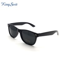 Wholesale Plastic Temples - KingSwit Classic Rectangle Sunglasses For Men & Women Plastic Frame And Temple Eyeglasses Coating Mirror Lens Eyewear Gafas KS001