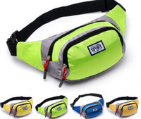 Wholesale Handy Travel Bag - Fashion Unisex Bag Travel Handy Hiking Sport Fanny Pack Waist Belt Zip Pouch Pure Color Multi Function Waist Bags Free Shipping