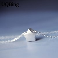 Venda por atacado - Drop Shipping 925 Sterling Silver Chain Necklace com Star Pendant Necklace para mulheres Jewelry Colar Colar