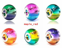 Wholesale price circle - 50pcs Lot Colorful Rainbow Murano Glass Beads for Jewelry Making Loose Lampwork Charms DIY Beads for Bracelet Wholesale in Bulk Low Price