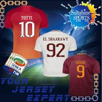 Wholesale Embroidery Sports Jerseys - 16 17 Rome soccer TOTTI DZEKO Men Sports Embroidery DE ROSSI Jersey 2016 2017 Roma Football shirts