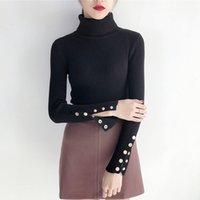 Wholesale Korea New Style Blouse - Hodisytian Autumn New Fashion Women Sweater Casual Pullovers Knitted Blouse Turtleneck Korea Style Boyfrck Camiseta Sueter Feminino Oversize